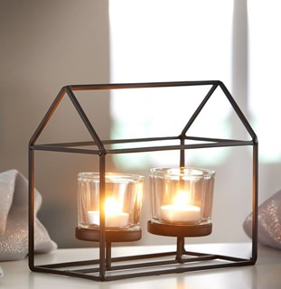Besondere Geschenkideen in Ihrer Nähe: Metallhaus mit Teelichthaltern