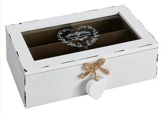 Besondere Geschenkideen in Ihrer Nähe: Aufbewahrungsbox (weiß antik)