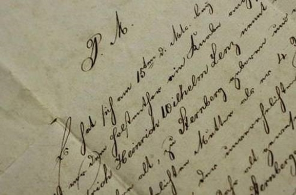 Besondere Geschenkideen aus Lübeck: Brief aus Lübeck von 1830