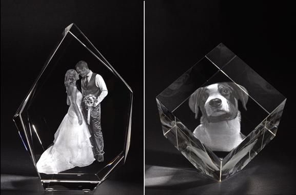 Besondere Geschenkideen aus Bielefeld: 2D oder 3D Laserfoto in Glas