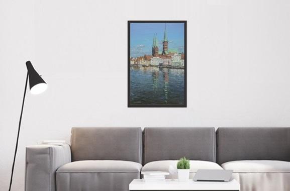 Besondere Geschenkideen aus Lübeck: Lübeck Ölgemälde von Peter Witt