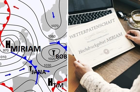 Besondere Geschenkideen für Menschen aus Potsdam: Wetterpatenschaft
