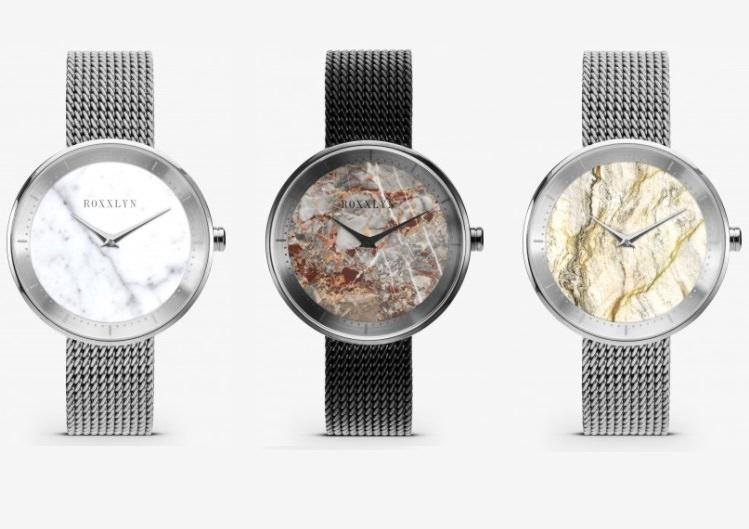 Hochwertiges Geschenk für Männer und Frauen: Hochwertige Armbanduhr aus echtem Schiefer