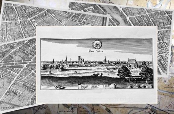 Besondere Geschenkideen aus Uelzen: Alte Stadtansicht von Uelzen