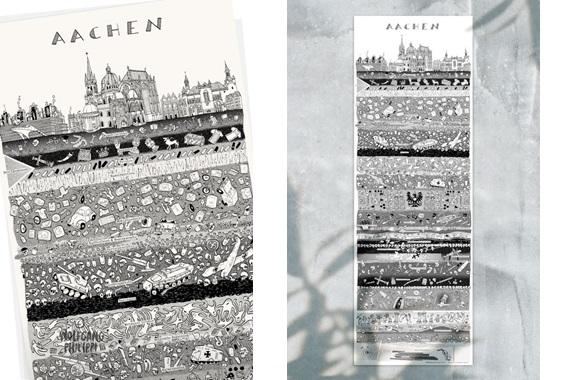 Besondere Geschenkideen aus Aachen: Aachener Stadtplakat von Wolfgang Philippi