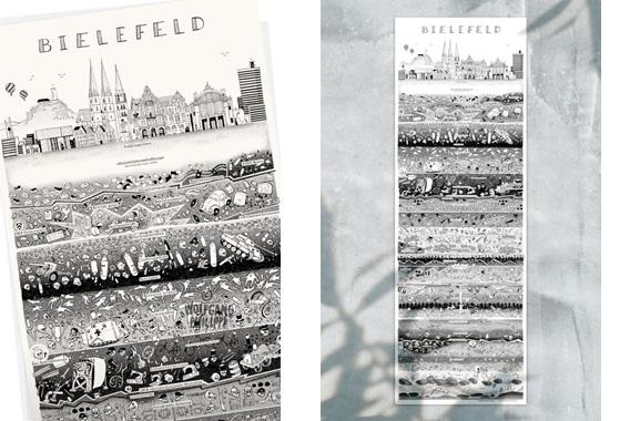 Besondere Geschenkideen aus Bielefeld: Bielefelder Stadtplakat von Wolfgang Philippi