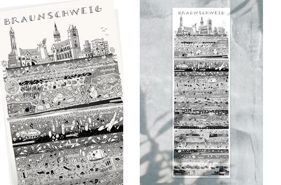 Besondere Geschenkideen aus Braunschweig: Braunschweiger Stadtplakat von Wolfgang Philippi
