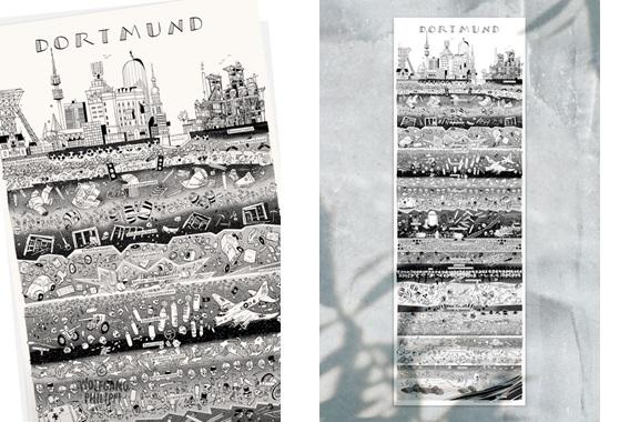 Besondere Geschenkideen aus Dortmund: Dortmunder Stadtplakat von Wolfgang Philippi