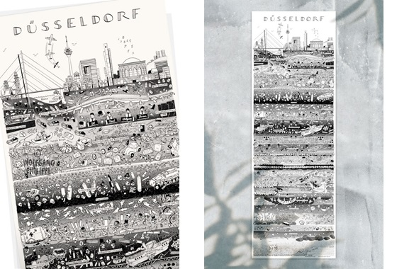 Besondere Geschenkideen aus Düsseldorf: Düsseldorfer Stadtplakat von Wolfgang Philippi