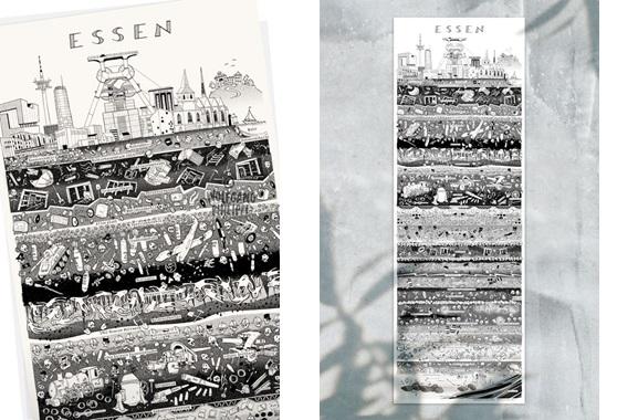 Besondere Geschenkideen aus Essen: Essener Stadtplakat von Wolfgang Philippi