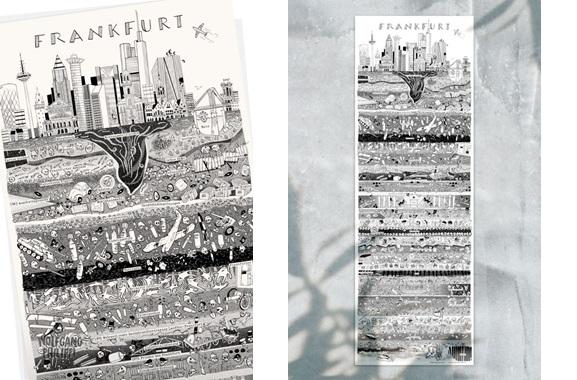 Besondere Geschenkideen aus Frankfurt: Frankfurter Stadtplakat von Wolfgang Philippi