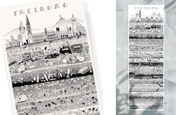 Besondere Geschenkideen aus Freiburg: Freiburger Stadtplakat von Wolfgang Philippi