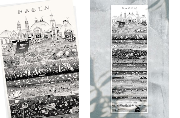 Besondere Geschenkideen aus Hagen: Hagener Stadtplakat von Wolfgang Philippi