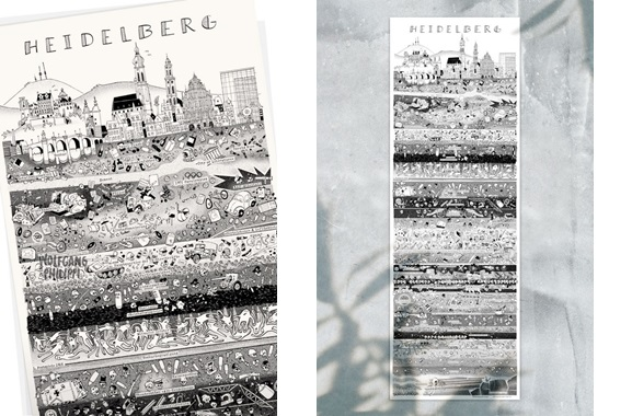 Besondere Geschenkideen aus Heidelberg: Heidelberger Stadtplakat von Wolfgang Philippi