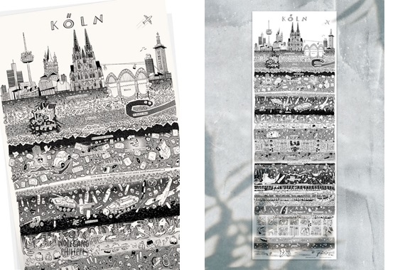 Besondere Geschenkideen aus Köln: Kölner Stadtplakat von Wolfgang Philippi