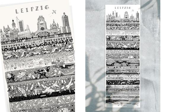 Besondere Geschenkideen aus Leipzig: Leipziger Stadtplakat von Wolfgang Philippi