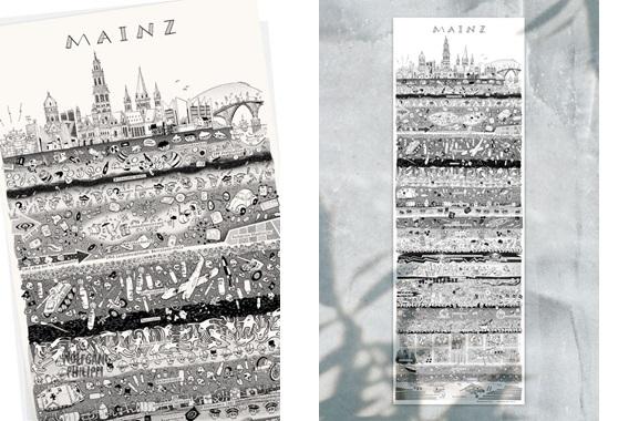 Besondere Geschenkideen aus Mainz: Mainzer Stadtplakat von Wolfgang Philippi