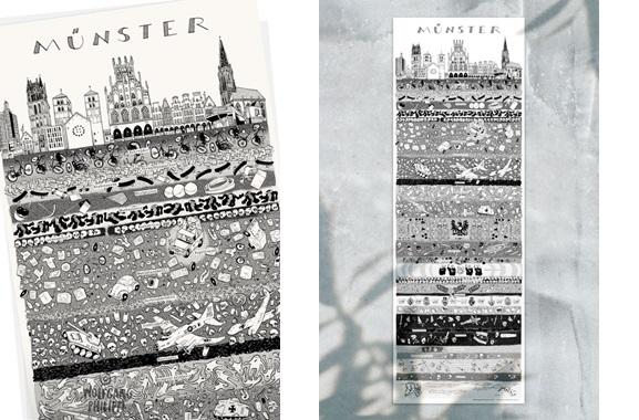 Besondere Geschenkideen aus Münster: Stadtplakat
