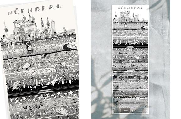 Besondere Geschenkideen aus Nürnberg: Nürnberger Stadtplakat von Wolfgang Philippi