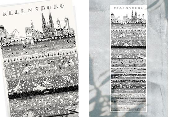Besondere Geschenkideen aus Regensburg: Regensburger Stadtplakat von Wolfgang Philippi