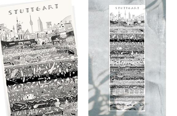 Besondere Geschenkideen aus Stuttgart: Stuttgarter Stadtplakat von Wolfgang Philippi