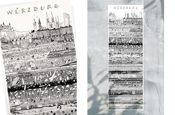 Besondere Geschenkideen aus Würzburg: Würzburger Stadtplakat von Wolfgang Philippi
