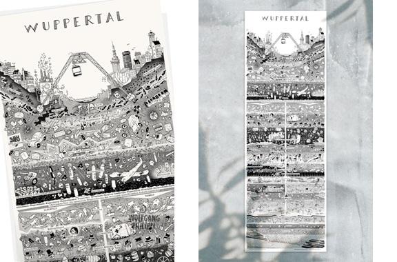Besondere Geschenkideen aus Wuppertal: Wuppertaler Stadtplakat von Wolfgang Philippi