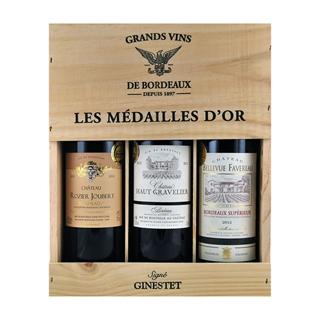 Besondere Geschenkideen in Ihrer Nähe: 3er Set Bordeaux Weine in Holzkiste