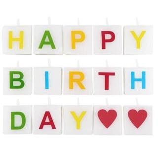 Besondere Geschenkideen aus Dortmund: Kerze Happy Birthday 15 tlg.