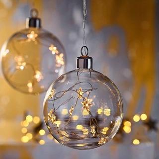 Besondere Geschenkideen aus Dresden: Glaskugel mit Lichterstrang