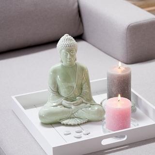 Besondere Geschenkideen in Ihrer Nähe: Grüne Dekofigur Buddha
