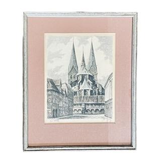 Besondere Geschenkideen aus Lübeck: Historisches Bild von Lübeck im Rahmen
