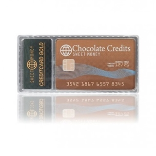 Besondere Geschenkideen aus der Region: Kreditkarte aus Schokolade
