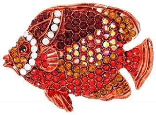 Besondere Geschenkideen aus der Region: Brosche - Red Fish