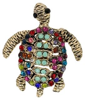 Besondere Geschenkideen aus der Region: Brosche - Sparkling Turtle