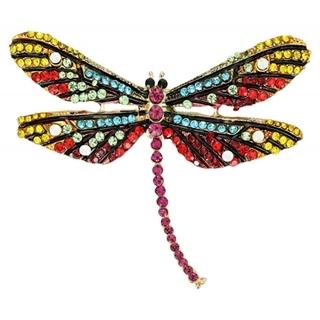 Besondere Geschenkideen aus Dortmund: Brosche - Rainbow Dragon Fly