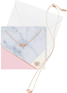 Besondere Geschenkideen aus der Region: Geschenkkarte mit Rosenquarz-Halskette