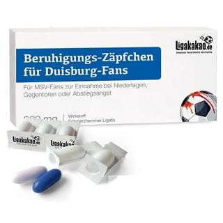 Besondere Geschenkideen aus Duisburg: Beruhigungs-Zäpfchen® für MSV Duisburg Fans