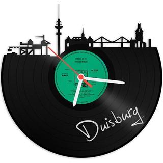 Besondere Geschenkideen aus Duisburg: Schallplattenuhr Skyline Duisburg