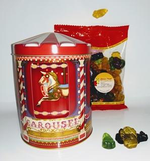 Besondere Geschenkideen in Ihrer Nähe: Fruchtgummi mit Zirkus-Spieluhr