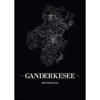 Besondere Geschenkideen aus Ganderkesee: Stadtposter - Ganderkesee