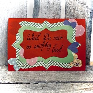 Besondere Geschenkideen aus Uelzen: Handgemachte Grußkarte