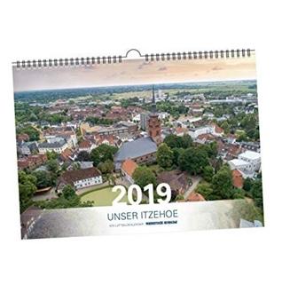 Besondere Geschenkideen aus Itzehoe: Luftbildkalender Itzehoe 2019