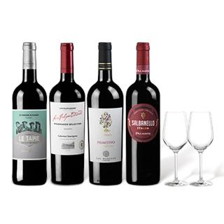 Besondere Geschenkideen aus Ludwigshafen: Probierpaket Meistgekaufte Rotweine