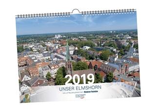 Besondere Geschenkideen aus Elmshorn: Luftbildkalender Elmshorn 2019