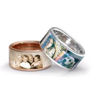 Besondere Geschenkideen aus Celle: Ring mit eigenem Foto von Zebra