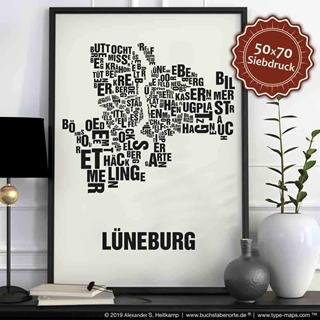Besondere Geschenkideen aus Lüneburg: Lüneburg-Poster Buchstabenort