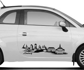 Besondere Geschenkideen aus Lüneburg: Autoaufkleber Lüneburg