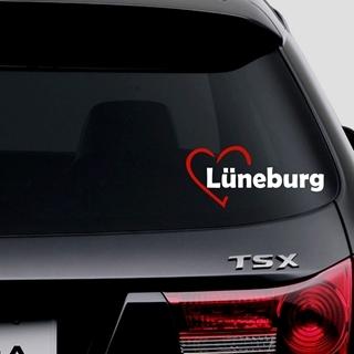 Besondere Geschenkideen aus Lüneburg: I Love Lüneburg Autoaufkleber