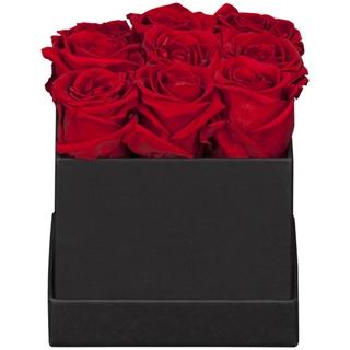 Hochwertige Geschenkideen: Rosenbox, 9 Stück Rot